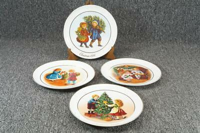 Vintage Avon Christmas Memories Collector's Plates 1981-1984