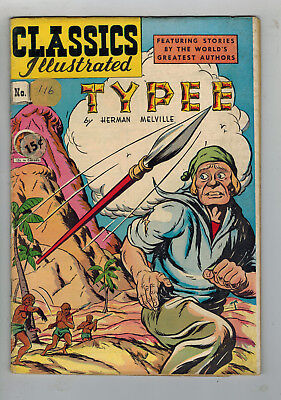 CLASSICS ILLUSTRATED COMIC No. 36 Typee - HRN 64