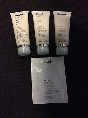 Douglas Hair Haarpflege Set Protein Repair Shampoo Conditioner Maske 250 ml Neu