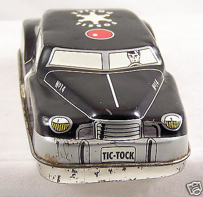 Fossil 1993 Police Car Auto Shaped Collectors Tin Can Empty Box Container