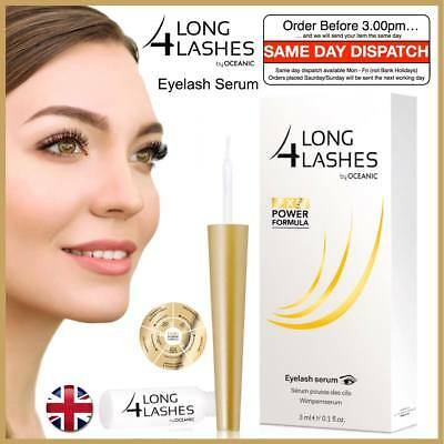 NEW Long 4 Lashes FX5 Power Formula Eyelash Growth Enhancing Serum 3ml Fast UK