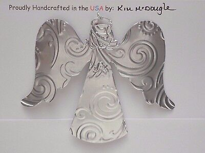 Angel Handmade Double Sided Christmas Ornament Recycled Aluminum Metal Can #2