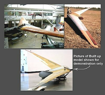 Double RC plans & Patterns HORTEN IV German Flying Wing
