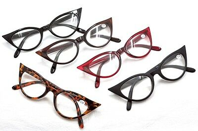 MT57 Retro 1950s 1960s Cat Eye Vintage Fashion Reading Glasses +1.0+1.5+2.0