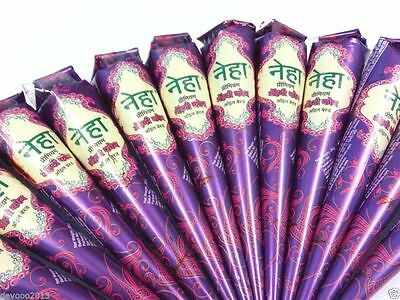 12 X Henna Mehndi Cone Natural Herbal Mehndi Temporary Tattoo Body Paint Art