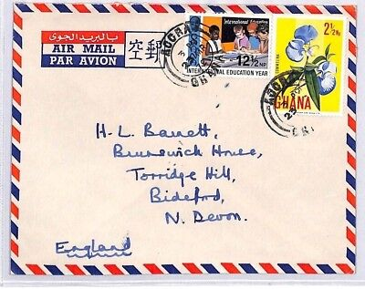 BQ69 1972 Aogra Ghana Devon Great Britain Airmail {samwells} PTS