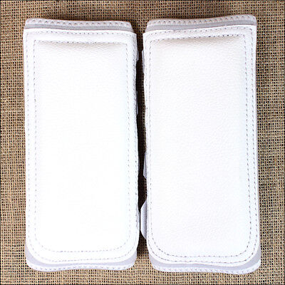 Small White Classic Equine Horse Safety Leg Wraps Protection Tack Pair