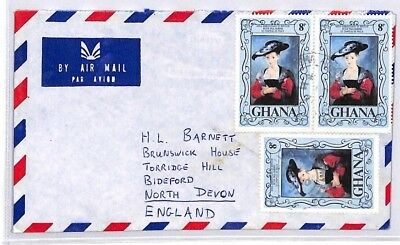 BQ77 1977 Ghana Devon Great Britain Airmail Cover {samwells} PTS