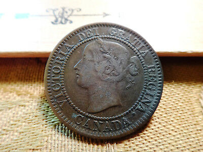1859 Canada Large Cent Penny 1c - Free S&H USA