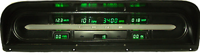Ford Truck DIGITAL DASH PANEL FOR 1967-1972 Gauges Intellitronix Green LEDs!!