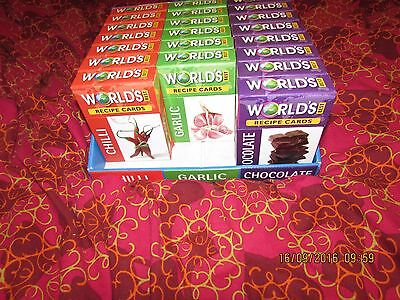 WORLD'S BEST RECIPE CARDS - CHOCOLATE,  or CHILLI, boxed gift