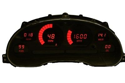 Ford Mustang Digital Dash Panel for 1994-2004 Gauges by Intellitronix Red LEDs