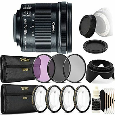 Canon EF-S 10-18mm f/4.5-5.6 IS STM Lens for Canon SL1 SL2 with Accessory Kit