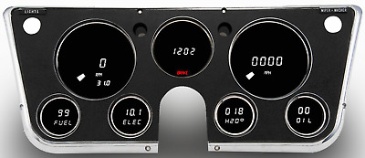 Chevy Truck DIGITAL DASH PANEL FOR 67-72 Chevy GMC WHITE LEDs! Intellitronix