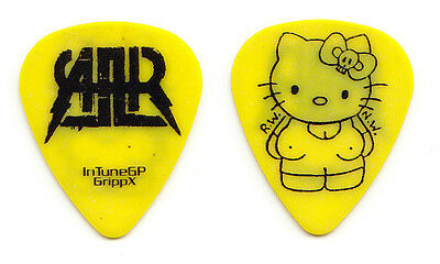 All American Rejects Hello Kitty Yellow GrippX Guitar Pick - 2009 Tour