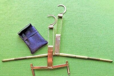 Vintage Folding Travel Hangers Case 3 pieces