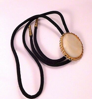 Vintage Bolo Tie Mother of Pearl Rockabilly Country Cowgirl Cowboy