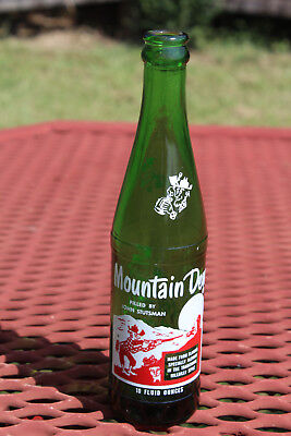 Vintage Mountain Dew Bottle Picture Acl Filled By John Stutsman Rare 1965