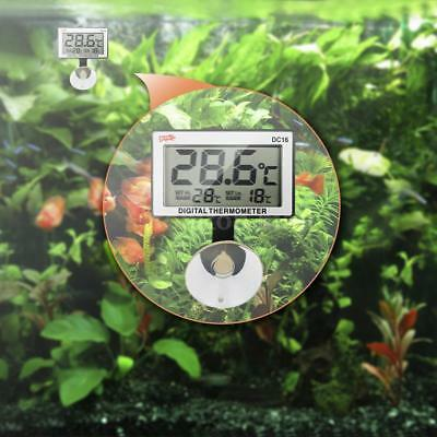 LCD Digital Fish Tank Aquarium Thermometer Submersible Temperature Alarm Q0C4