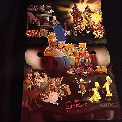 SDCC THE SIMPSON'S EXCLUSIVE FOX THE SIMPSONS 11x17 POSTER!! MINT Free Ship!