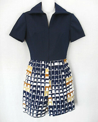 Miss Bergdorf Goodman Vintage 60s SIXTIES Polyester Playsuit Romper Polyester  S