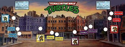 Teenage Mutant Ninja Turtles Arcade Game Control Panel Overlay