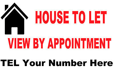 House To  LET /FOR SALE Simple Personised sign boards X2