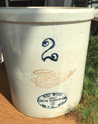 Vintage Red Wing 2 Gallon Crock - Union Stoneware Co. - Red Wing, MN