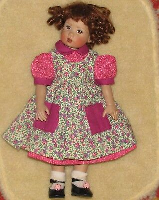 Boneka Bitty Bethany Kish Doll Dress & Pinafore  (#119)