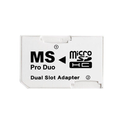 Micro SD TF to MS Pro Duo PSP Memory Stick Card Dual 2 Slot Adapter Converter