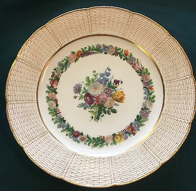 Nice hand painted French Sevres plate with flower HP