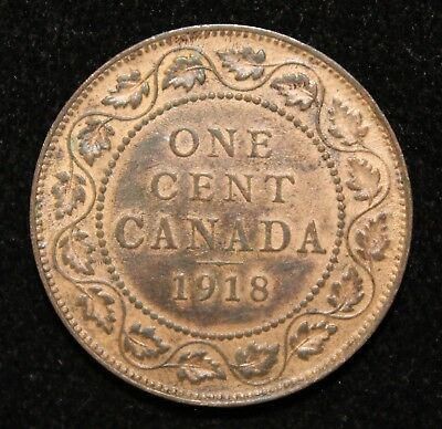 Lovely Red/Brown 1918 Uncirculated Canada Large Cent