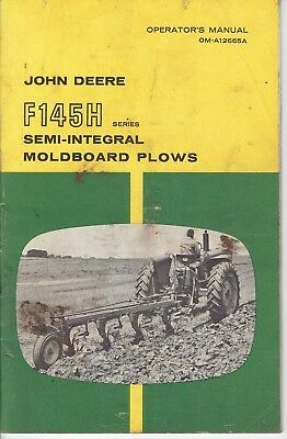 John Deere F145H Semi-Integral Moldboard Plows Manual