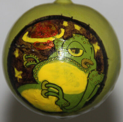 halloween gourd ornament with alien