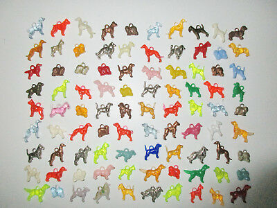 Lot of 90 Vintage Cracker Jack or Bubble Gum CHARMS - ALL DOGS!!!