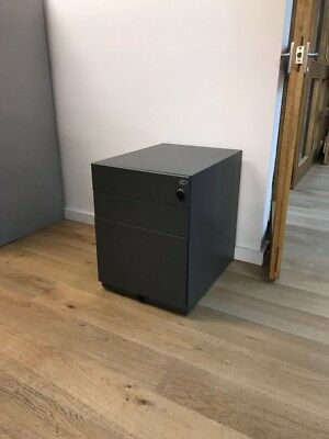 Grey metal three drawer filing cabinets - furnish your home or office cheaply!