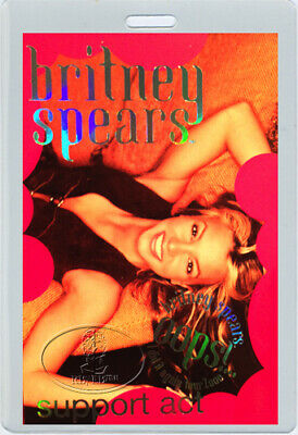 BRITNEY SPEARS 2000 OOPS! Tour Laminated Backstage Pass
