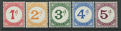 1957 Tristan da Cunha Postage Due set of 5 mint o.g.