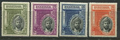 Zanzibar 1936 set of 4 mint o.g.