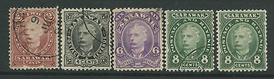 Sarawak 1895 set of 4 2 cents to 8 cents used