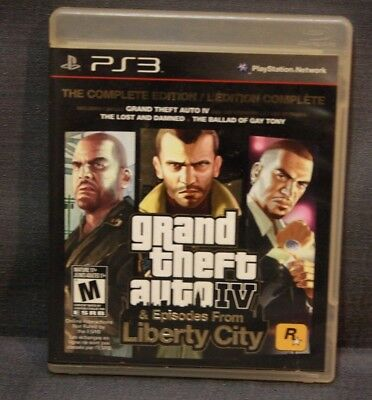 Grand Theft Auto IV Complete Edition Liberty City (Sony PlayStation 3, 2008)