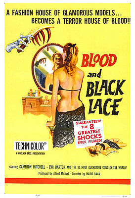 Blood And Black Lace Movie Poster Print - 1964 - Horror - One (1) Sheet Artwork