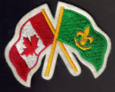 Boy Scouts Canada Scout And Canadian Flags Embroidered Patch