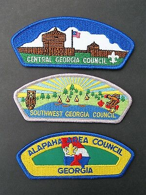 Boy Scouts Of America 3 Georgia Alapaha S.w. Central Csp Council Shoulder Patch