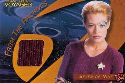 Star Trek 40Th Variant  Costume Card C25A  7 Of 9