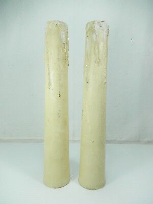 """Pair (2) Antique - Vintage Wood Faux Candle Risers for Floor Lamps.  13 3/4"""""""