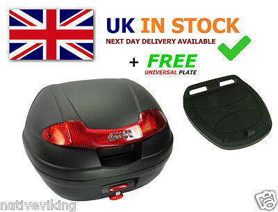 GIVI E340N TOP BOX case Includes FREE Z113C Universal MONOLOCK Fitting Plate