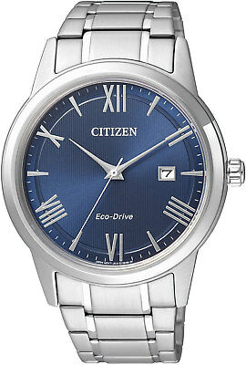 Citizen Eco-Drive AW1231-58L. Stainless Steel Mens Watch. Classic & Simple Look.