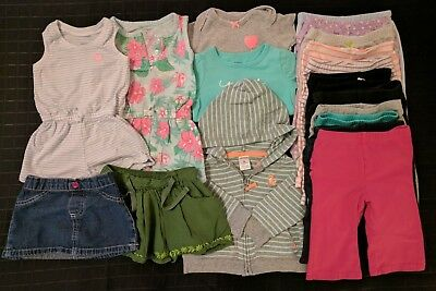 19 Lot Baby Girl's 6 Month Clothes