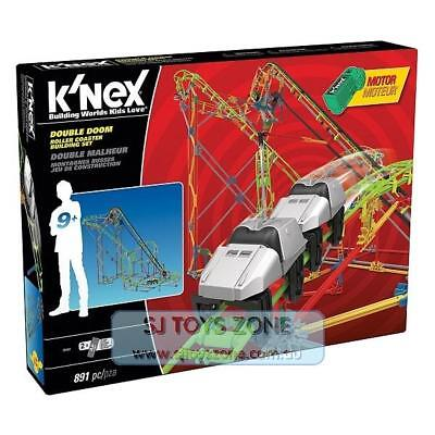 K'Nex Double Doom Roller Coaster Building Set Engineering Educational Toy 891pc